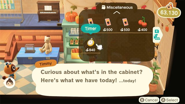 What does the timer do in Animal Crossing: New Horizons?