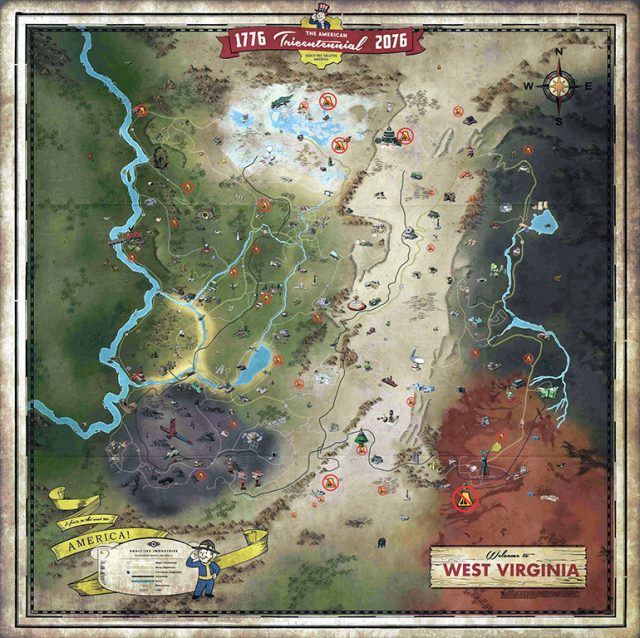 Fallout 76 Wastelanders map CAMPS