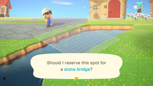 How do I make an Animal Crossing diagonal bridge building
