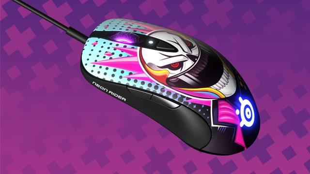 steelseries neon rider collection sensei ten gaming mouse review