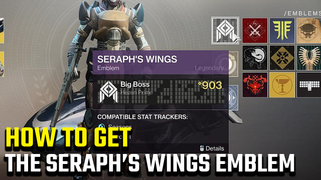 Destiny 2 Seraph's Wings Emblem Almighty Event Emblem