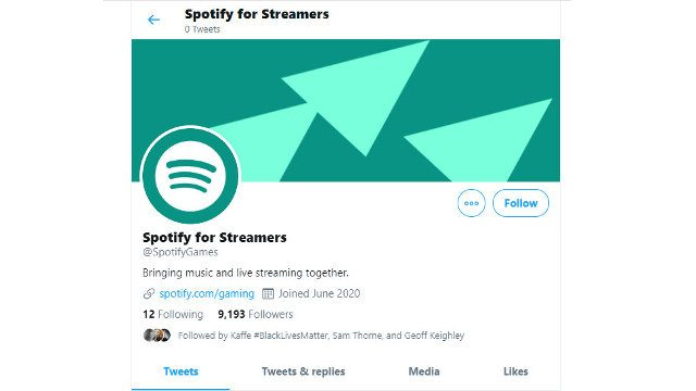 Spotify For Streamers Twitter