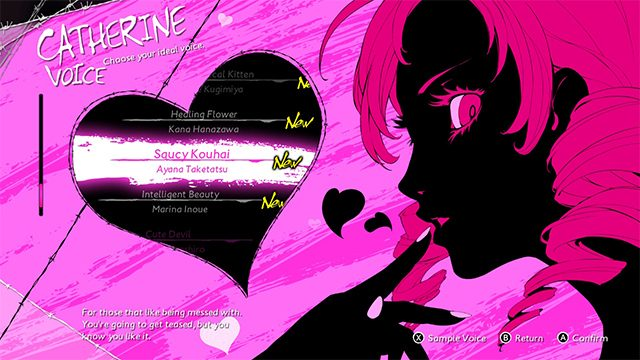 Catherine: Full Body Ideal Voice DLC | How to access the new Switch voice tracks