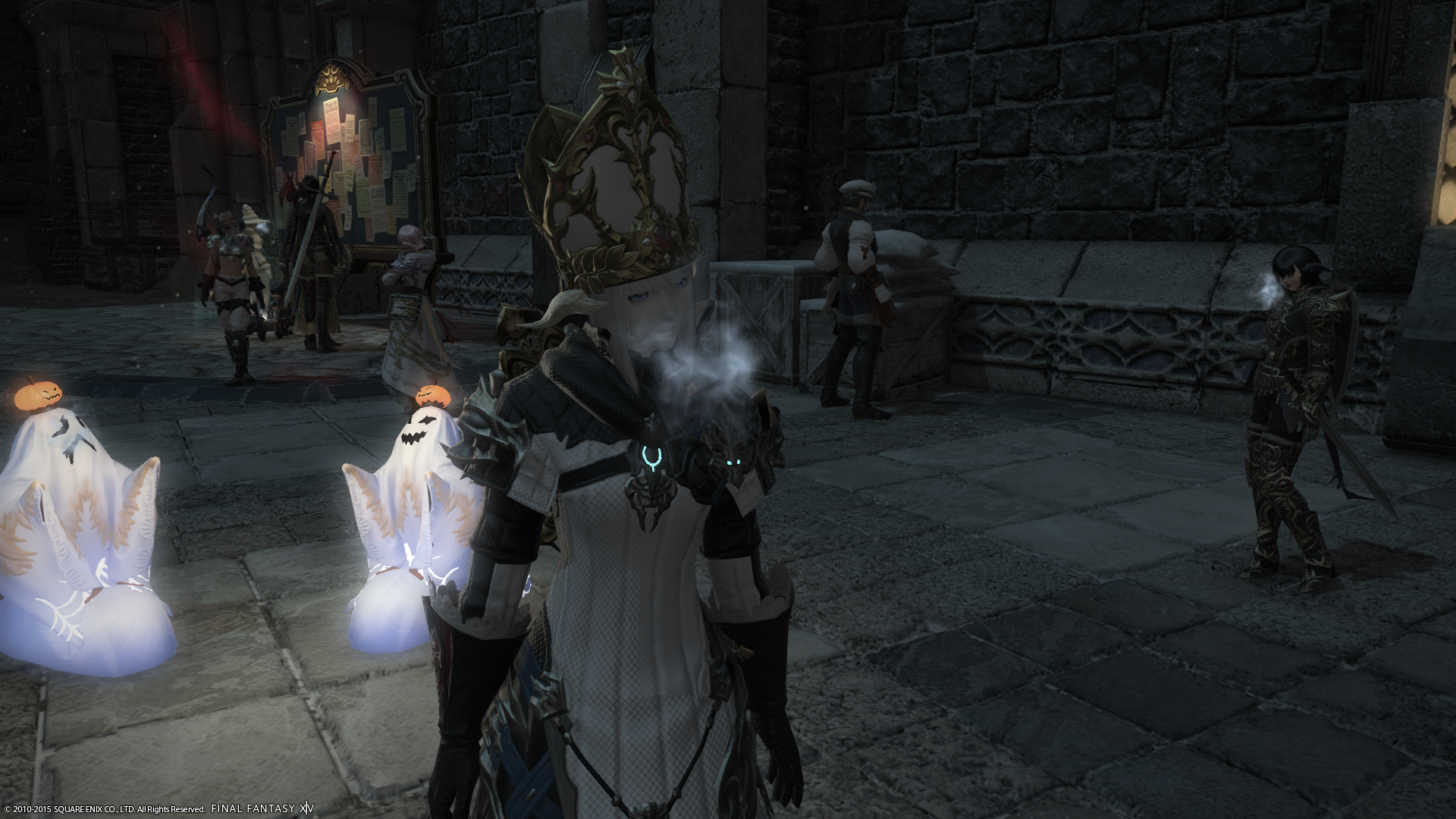 Hanging out in the Ishgard Market Ward