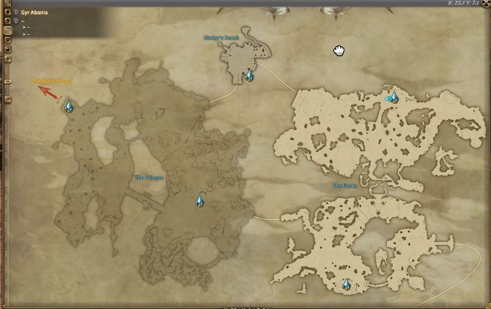 Final Fantasy XIV Stormblood Maps of All New Zones GameRevolution