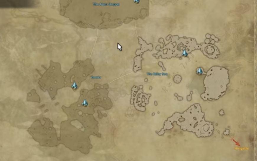 Final Fantasy XIV: Stormblood - Maps of All New Zones - GameRevolution